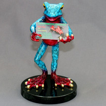 Frog Bronze Cardholder | Barry Stein