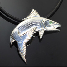 Bonefish Sterling Silver Pendant Necklace | Anisa Stewart Jewelry