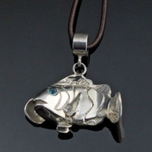 Clownfish Sterling Silver Pendant Necklace
