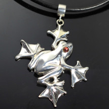 Flying Frog Sterling Silver Pendant