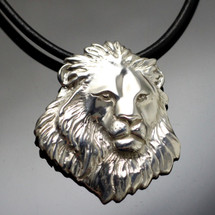 Lion Head Sterling Silver Pendant Necklace | Anisa Stewart Jewelry