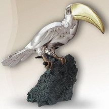 Silver Toucan Sculpture 2007