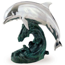 Single Dolphin Silver Plated Sculpture | 4003 | D'Argenta