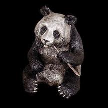 Panda Bear Silver Plated Sculpture | 7503 | D'Argenta