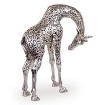 Giraffe Sculpture Head Down Silver Plated | 7506 | D'Argenta