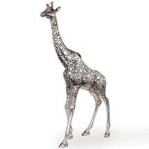 Giraffe Silver Plated Tall Ltd Ed Sculpture | 7507 | D'Argenta