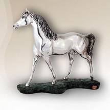 Silver Plated Arabian Horse Sculpture | 8028 | D'Argenta