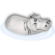Silver Hippo Sculpture | A66 | D'Argenta