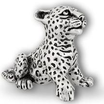 Silver Leopard Cub Sculpture | A69 | D'Argenta