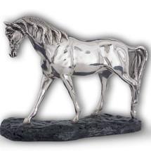 Silver Plated Arabian Horse Sculpture Head Down | A72 | D'Argenta