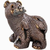 Grizzly Bear Standing Ceramic Figurine | De Rosa | Rinconada