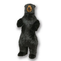 Standing 4 ft Black Bear Plush Stuffed Animal