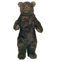 Standing 3 ft Grizzly Bear Plush Stuffed Animal | Ditz Designs | DIT75057