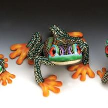 Tree Frog Papa Figurine | FimoCreations