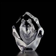 Wolf Crystal Sculpture   33547   Mats Jonasson Maleras