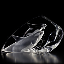 Killer Whales Crystal Sculpture | 33577 | Mats Jonasson Maleras