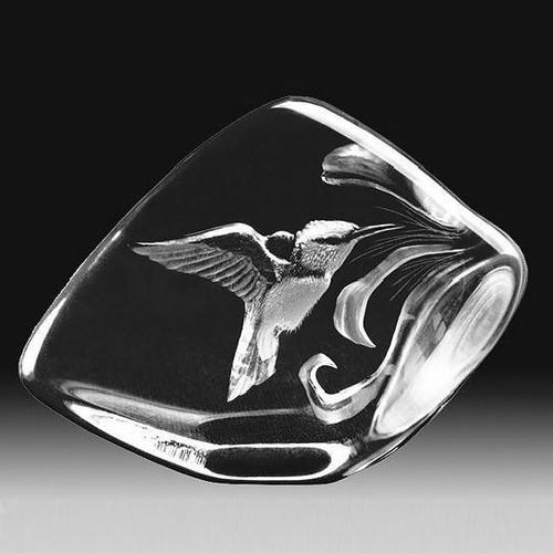 Hummingbird Crystal Sculpture | 33641 | Mats Jonasson Maleras