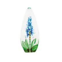 Blue Orchid Flower Crystal Sculpture   33818   Mats Jonasson Maleras