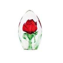 Red Rose Crystal Sculpture | 33838 | Mats Jonasson Maleras