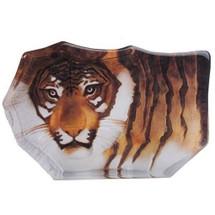 Tiger Crystal Painted Small Sculpture | 33850 | Mats Jonasson Maleras