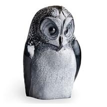 Owl Black Crystal Sculpture   34050   Mats Jonasson Maleras