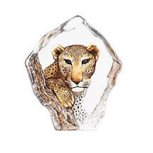 Leopard Crystal Sculpture | 34113 | Mats Jonasson Maleras