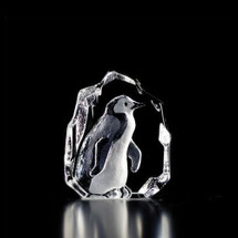 Mini Penguin Crystal Sculpture | 88113 | Mats Jonasson Maleras