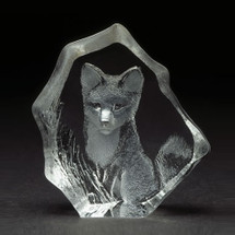 Baby Fox Crystal Sculpture | 88132 | Mats Jonasson Maleras