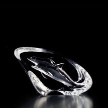 Mini Dolphin Crystal Sculpture | 88134 | Mats Jonasson Maleras