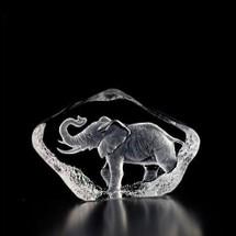 Mini Elephant Crystal Sculpture | 88144 | Mats Jonasson Maleras