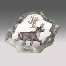 Reindeer Mini Color Crystal Sculpture | 88170 | Mats Jonasson Maleras
