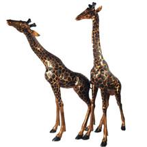 Giraffe Pair Bronze Outdoor Large Statues | Metropolitan Galleries | MGISRB15043