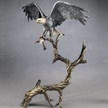 "Bronze Eagle Sculpture ""High Point"" | Mark Hopkins"