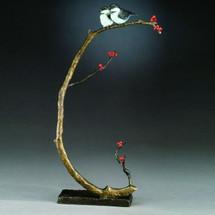 Good Company Bronze Chickadee Sculpture