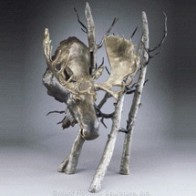 "Moose Bronze Sculpture Large ""Solitude""  