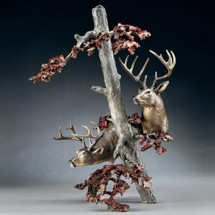 "Bronze Deer Sculpture ""Downwind"" 