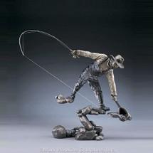 "Fisherman Bronze Sculpture ""The Moment"" | Mark Hopkins | mhs21048"