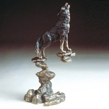Wolf Bronze Sculpture | Mark Hopkins | mhs22014