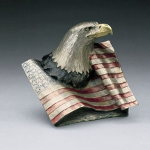 "Eagle with Flag Bronze Sculpture ""Justice"" 