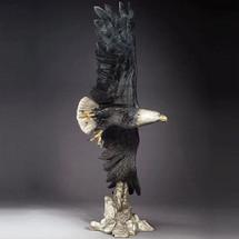 "Eagle Bronze Sculpture Large ""Vigilance"" | Mark Hopkins"