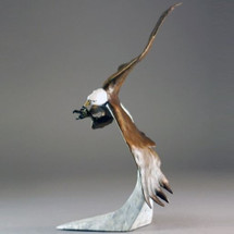 "Eagle Bronze Sculpture ""Above the Clouds"" Small 