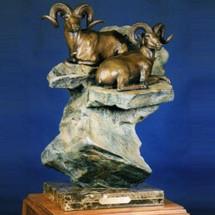 "Dall Sheep Bronze Sculpture ""The High Life"" | Scott Lennard | SLB07"
