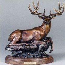 "Mule Deer Bronze Sculpture ""Skyline Ridge"" 