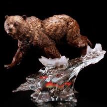 Bear Solitary Hunter Sculpture