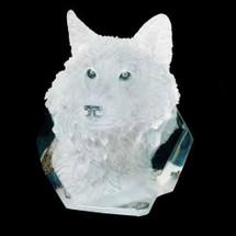 """Wolf Sculpture """"Devotion""""   Starlite Originals   SO8000 -2"""