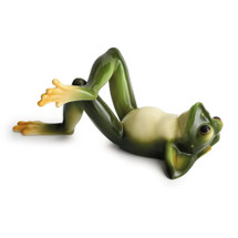 Frog Collection Laying Figurine | Franz Porcelain