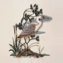 Heron in Mangrove Wall Sculpture | TI Design | tiCW279X
