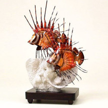 Lion Fish Copper Sculpture