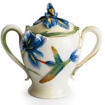 Long Tail Hummingbird Sugar Jar   fz00134   Franz Porcelain Collection -2