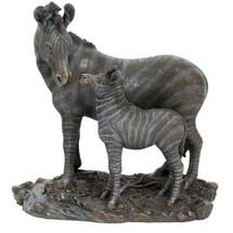 Zebra and Baby Sculpture | Unicorn Studios | wu74803a4